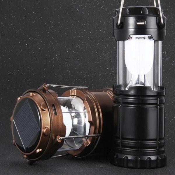 Lampa solara reincarcabila cu functie de baterie externa